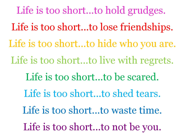 life is too short aspiringwriter22
