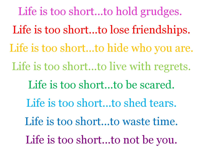 Life Is Too Short Image