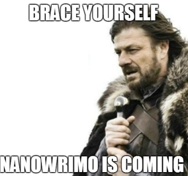 NaNoWriMo is coming.