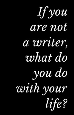 If you are not a writer, what do you do with your life