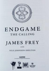 Endgame Inside Title Page