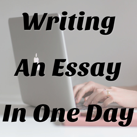 how to write an essay in one night